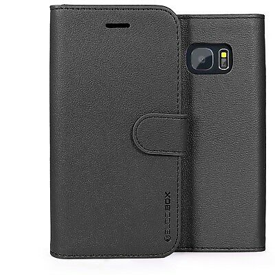 for Samsung Galaxy S7 Case BUDDIBOX Premium Leather Card Slot Wallet Flip Cover
