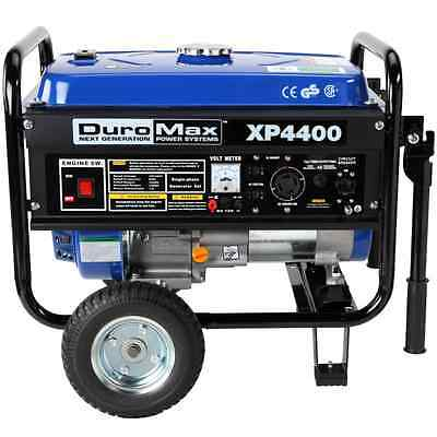 DuroMax XP4400 4,400 Watt 6.5 HP OHV 4-Cycle Gas Powered Portable Generator With