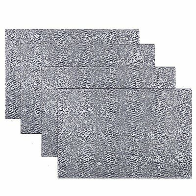 Set Of 4 Place Mats Dinner Dining Table Placemats Tableware - Glitter Silver