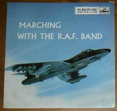 """H.M. Royal Air Force Band: Marching with The R.A.F. Band UK 7"""" EP"""