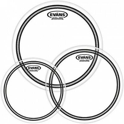Evans EC2 SST Clear Drumhead Pack Fusion - 10/12/14. Brand New