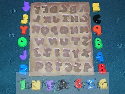 Mini alphabet and numbers plaster craft latex moulds molds