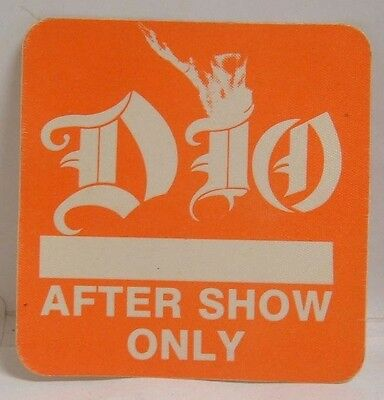 Ronnie James Dio - Vintage Original Concert Tour Cloth Backstage Pass