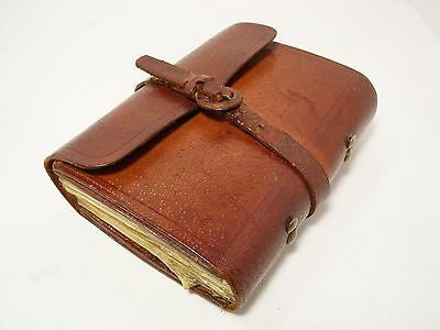 Vintage Antique Hardy Leather Cast & Fly Wallet - Retaining Well...