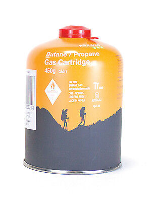 450g Butane/Propane Gas Cartridge Orange Metal - Yellowstone