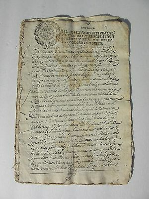 1686~Spanish Document~LATIN~6 pages~Signed~LUIS PALOMO RENDON~Spain~Colonial