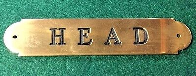 Ships Head Plaque Sign Solid Brass