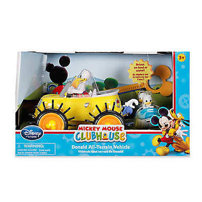 Disney Store Donald Duck All-Terrain Vehicle Drives on Land Water Clubhouse NIB