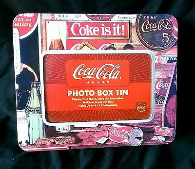 Gift: Novelty Coca Cola Photo Tin Box - Red