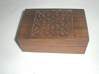 Celtic Wood Box -Tarot or Jewelry - Carved Design