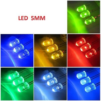 White 5MM Ultra Bright LEDs to Red/Blue/Green/White/Yellow Lamp Emitting Diode