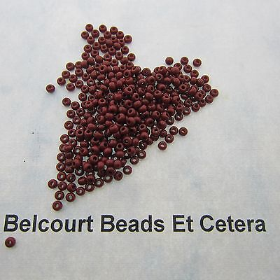25 Grams Medium Brown Opaque Size 10/0 Czech Glass Preciosa Seed Beads