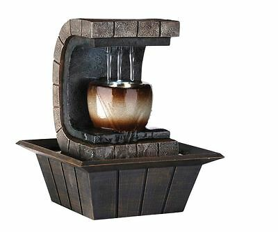 home table desk tabletop indoor waterfall water meditation fountain decor new