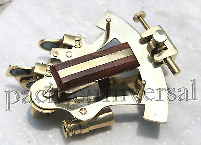 """Vintage Maritime Solid Brass Sextant 4"""" White Star Line R.M.S Titanic Replica G."""