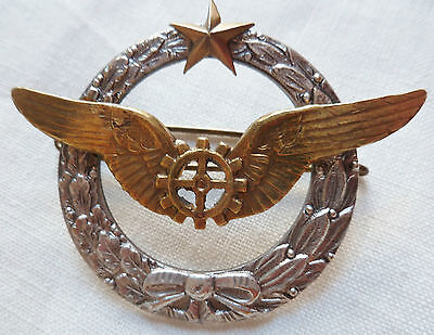Insigne Brevet Mecanicien Avion Armee Air 1920/1940 Original French Wings Wwii