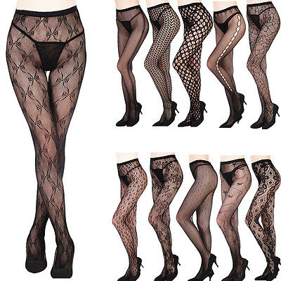 Women Fashion Jacquard Fishnet Pantyhose Tights Pattern Stockings Waist High Hot