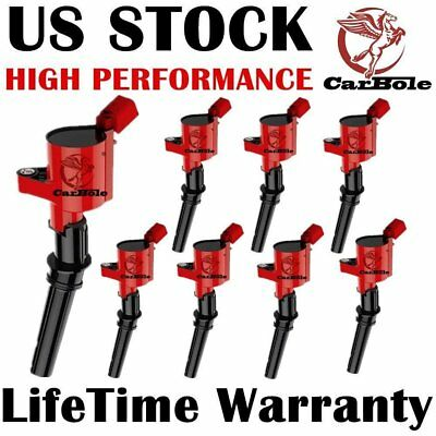 CarBole 8Pack High Performance Ignition Coils Ford F-150 F-250 4.6L 5.4L-3 color