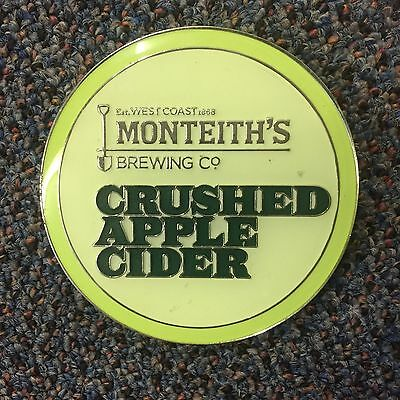 Monteith's Crushed Apple Cider Beer Tap Badge, Decal, Top