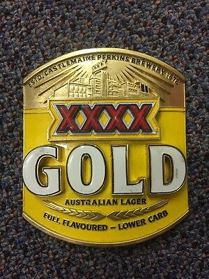 XXXX Gold Beer Tap Badge, Decal, Top Great Condition