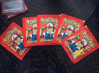 Pack Of Pokemon Topps Stickers 1998