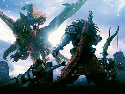 """007 Monster Hunter - Moster Fight Game 18""""x14"""" Poster"""