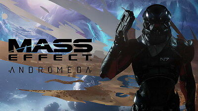 """057 Mass Effect 4 - Andromeda ME Fighting Shooting Game 24""""x14"""" Poster"""