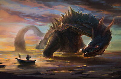 """005 Monster Hunter - Moster Fight Game 36""""x24"""" Poster"""