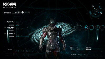 """059 Mass Effect 4 - Andromeda ME Fighting Shooting Game 42""""x24"""" Poster"""