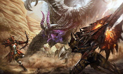 """004 Monster Hunter - Moster Fight Game 40""""x24"""" Poster"""