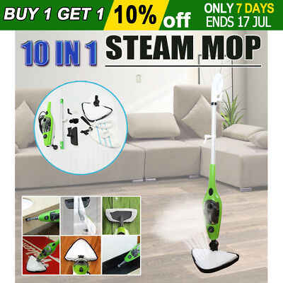 10 in 1 Multifunction Floor Steam Mop Steaming Cleaning Cleaner Carpet Kitchen