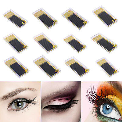 2a241a98f6a Mix Size BCD Curl Individual Mink Volume Lashes Eyelash Extensions Blink  Makeup