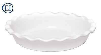 Emile Henry Ceramic Pie Dish Tin, 26cm in Flour White Farine