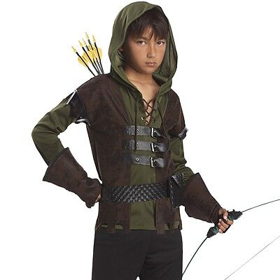 Kids Robin Hood Outlaw Costume Folklore Book Week Halloween Boys Party Outfit