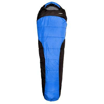 BLUE ADULT SIZE MUMMY SLEEPING BAG SACK 2 PLY 1.5kg ALL WEATHER 4 SEASON