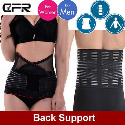 New Lower Back Therapy Support  Waist Belt Lumbar Back Brace For Pain Relief JF