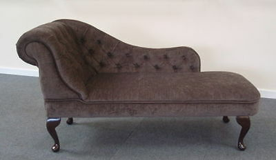Chaise Longue in a Brown Soft Chenille type Fabric NEW