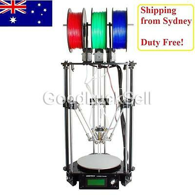 AU Geeetech Latest Rostock delta 301 triple-color 3-in-1-out extruder 3D printer