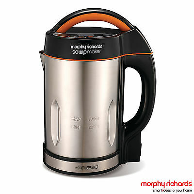 Morphy Richards 48822 Stainless Steel Soup Maker - Brand New - 2yrs Guarantee
