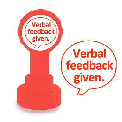 Verbal feedback given (Red). Self-inking School Teacher Stamp