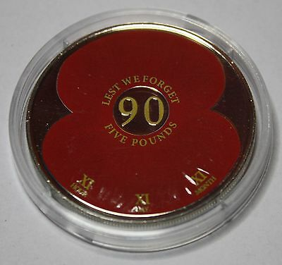 2011 WWI 90th Anniversary Poppy £5 Coin