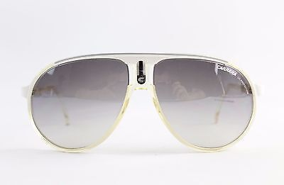 Carrera White & Ivory Plastic Aviator Sunglasses with UV Protection