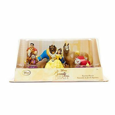 New Disney Store Beauty & The Beast 6 Figures Figurine Toys Playset - Dmged Box