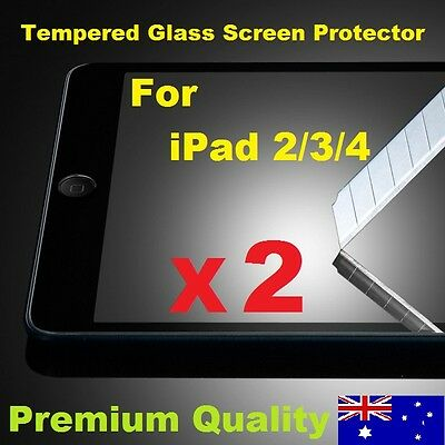 Scratch Resist Tempered Glass LCD Screen Protector for Apple iPad 4 3 2