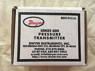 DWYER Pressure Transmitter  604A-2.  NEW in box.  Free Shipping