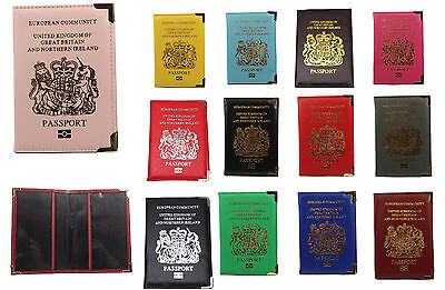 New Passport Cover Holder Wallet Id For Uk And European Protector Pu Leather