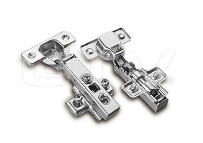10x GTV Soft Close Kitchen Cabinet Cupboard Door Hinge Hinges Euro Plate Screws