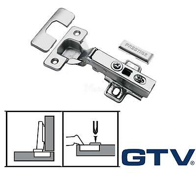GTV Soft Close Kitchen Cabinet Cupboard Door Hinge Hinges Euro Plate Screws