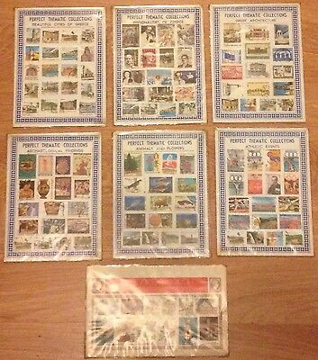 130 GREEK STAMPS COLLECTIONS 7 Sets Job Lot GREECE Cities Architecture Athletic