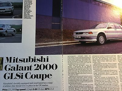 MITSUBISHI GALANT 2000 GLSi COUPE # ORIGINAL 1990 AUTOMOTIVE ARTICLE # 4 PAGES