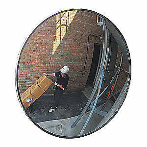 GRAINGER APPROVED Scratch-Resist.Convex Mirror,Outdoor,48, 8WTA7